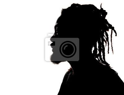 Fototapete Silhouette von einem African American Mann
