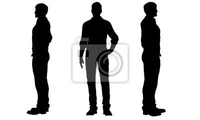 Fototapete Silhouetten von Männern