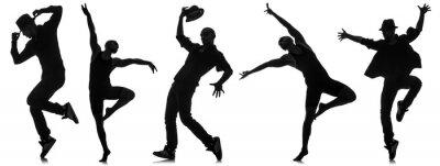 Fototapete Silhouetten von Tänzern in Tanz-Konzept
