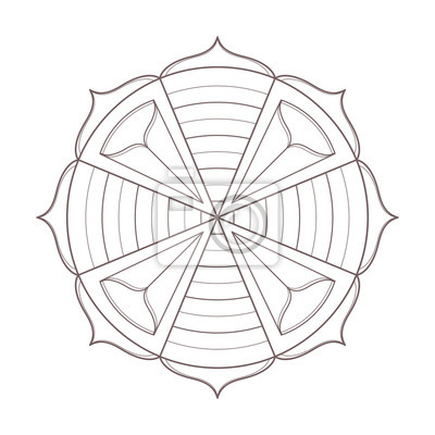 Simple design of mandala line art useful for coloring pages and ...