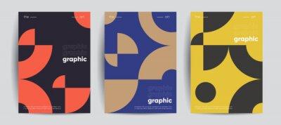 Fototapete Simple geometric covers set. Minimalist vector templates.