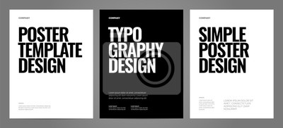 Fototapete Simple template design with typography for poster, flyer or cover.