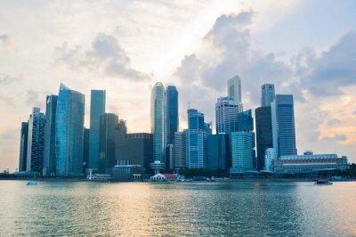 Fototapete Singapore Business cener