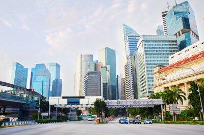 Fototapete Singapur Geschäftsviertel