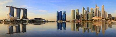 Fototapete Singapur Skyline-Panorama am Morgen