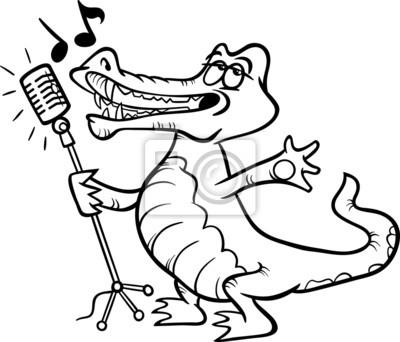 Fototapete Singen Krokodil Malvorlagen