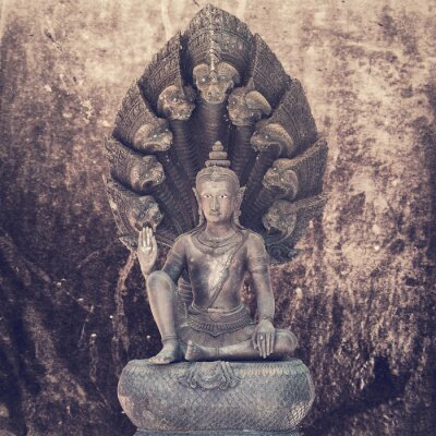 Fototapete Sitzende Buddha-Statue