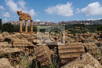 Sizilien - Agrigent - Valle dei Templi - Castor und Pollux Tempel