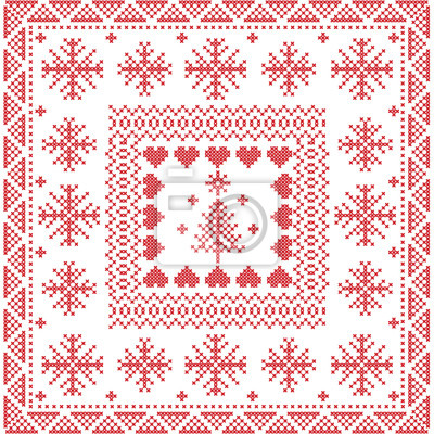 Skandinavischen stil nordic winterstich, stricken nahtlose muster ...