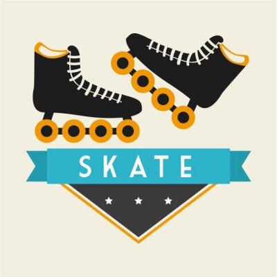 Fototapete Skate-Design
