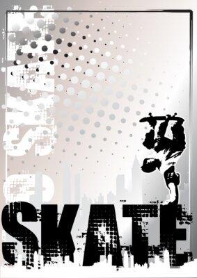 Skateboard Silber Plakathintergrund 1