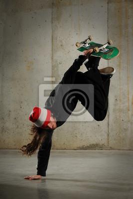 Skateboarder Durchführung Tricks