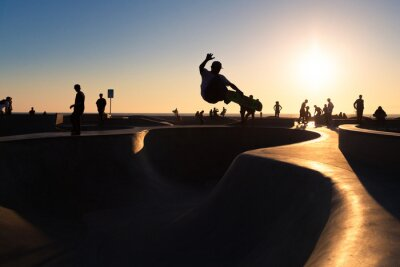 Fototapete Skateboardfahren
