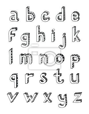 Sketch Alphabet Kleinbuchstaben