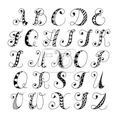 Sketch Alphabet Schrift