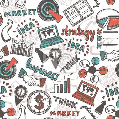Sketch Geschäfts nahtlose Muster
