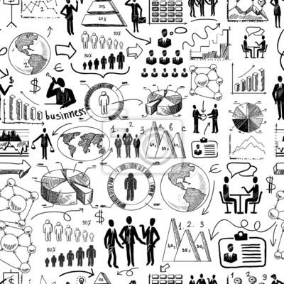 Sketch nahtlose Geschäfts