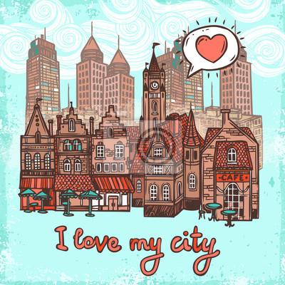 Sketch Stadt Hintergrund