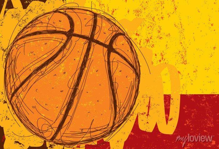 Fototapete Sketchy Basketball Background