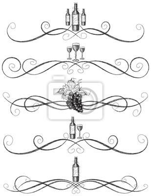 Sketchy Weinscroll