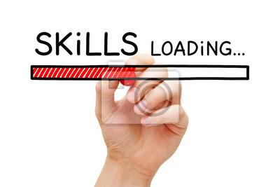 Fototapete Skills Development Loading Bar Concept
