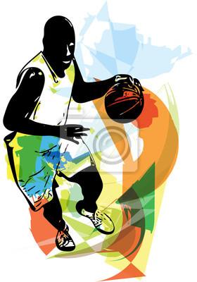 Skizze der Basketball-Spieler