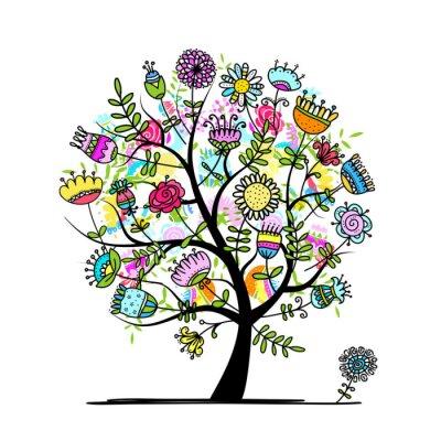 Skizze Der Floral Baum Fur Ihr Design Fototapete Fototapeten