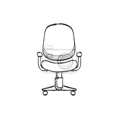 Bürostuhl skizze  Fototapete: Skizze icon - bürostuhl