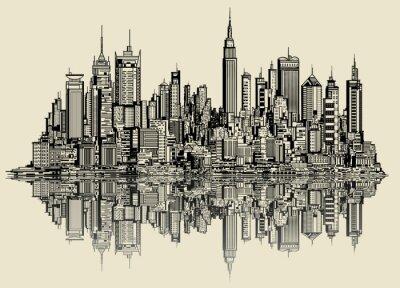 Fototapete Skizze von new york