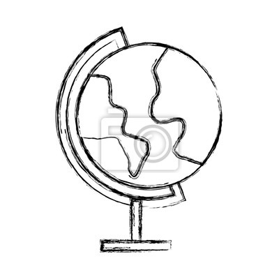 Einfache Weltkarte Skizze