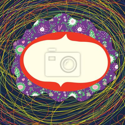 Skurril Rahmen mit Kreise und Muster lustig
