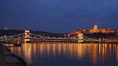 Fototapete Skyline Budapest Kettenbrücke