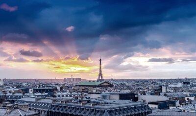 Fototapete Skyline von Paris. Architektonisches Stadtdetail