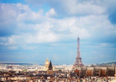Fototapete Skyline von Paris mit Eiffelturm