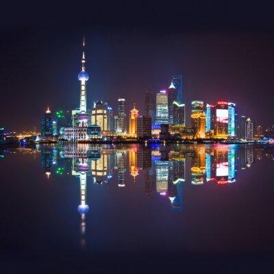 Fototapete Skyline von Shanghai, carré