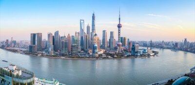Fototapete Skyline von Shanghai Panoramablick