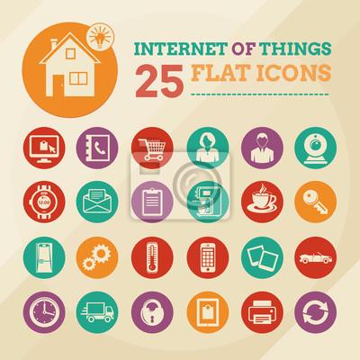 Smart home und Internet der Dinge Icon-Set