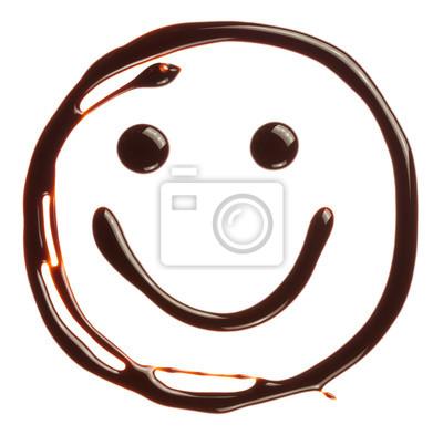 Smiley-Gesicht von Schokolade Sirup