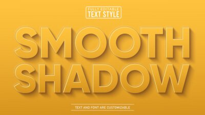 Fototapete Smooth Long Realistic Editable Text Effect