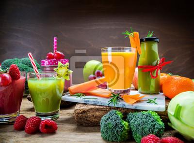 Smoothie Aus Obst Und Gemuse Diat Fasten Detox Fototapete