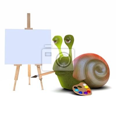 Fototapete Snail Künstler