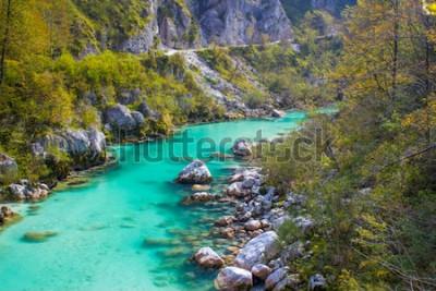 Fototapete Soca Fluss in Slowenien, Europa
