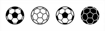 Fototapete Soccer ball icon. football simple black style, Vector illustration.