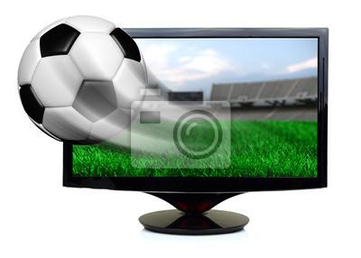 Soccer Ball in Bewegung Bildschirm isoliert fliegen aus