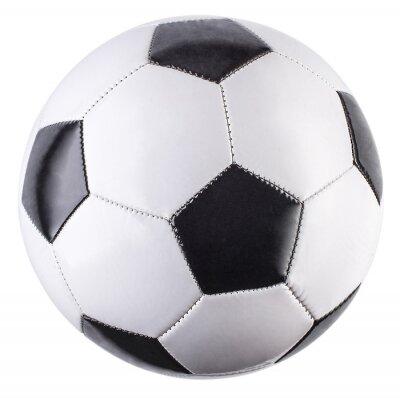 Fototapete Soccer ball isolated on white background