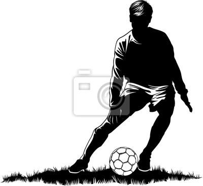 Soccer Dribbling  on grass