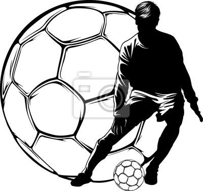 Soccer Dribbling Over Ball
