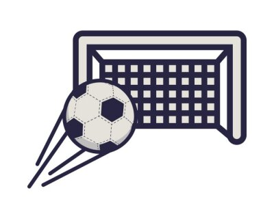 soccer sport balloon with arch goal