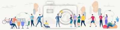 Fototapete Social Network and Teamwork Vector Concept.