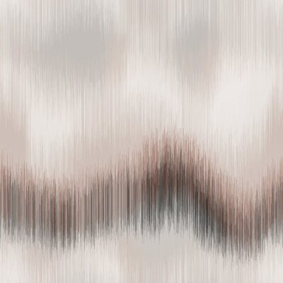 Fototapete Soft blurry ikat gradient ombre seamless repeat vector pattern in natural terra cotta desert colors. Abstract landscape, ancient weaving. Great for home decor, fashion, stationary. Generative art.